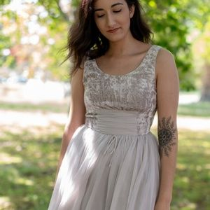 Free People Velvet and Chiffon Mini Dress 6